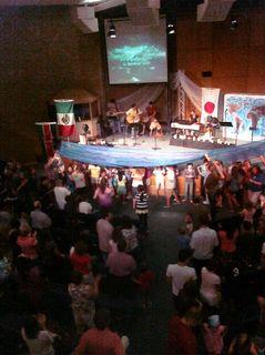 Kids camp worship night